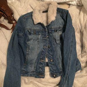 Sherpa jean jacket!